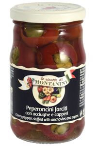 Montanini cherry peppers stuffed anchovies capers