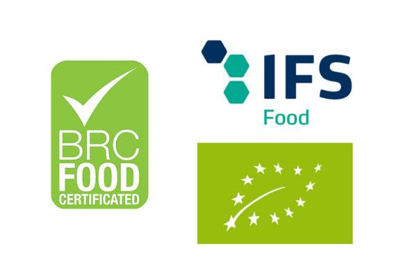 Montanini conserve alimentari certifications BRC IFS BIO