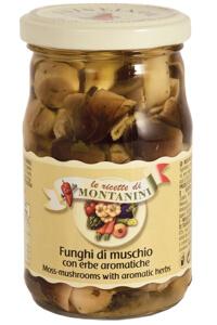 Montanini moss mushrooms with herbs