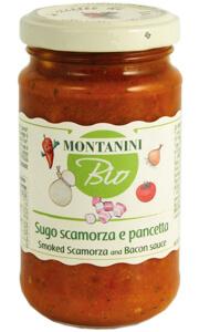 Montanini organic smoked scamorza bacon pasta sauce