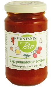 Montanini organic tomato pasta sauce with basil