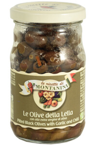 Montanini pitted black olives