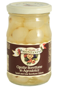 Montanini sweet-and-sour borettane onions