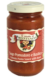 Montanini tomato pasta sauce with basil