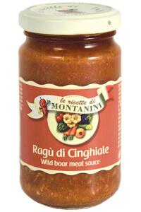 Montanini wild boar meat pasta sauce